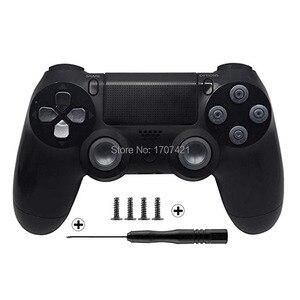 Image 4 - Gold Benutzerdefinierte Metall Thumbsticks Analog Controller Kugel Tasten Chrome D pad Für Sony PS4 Controller