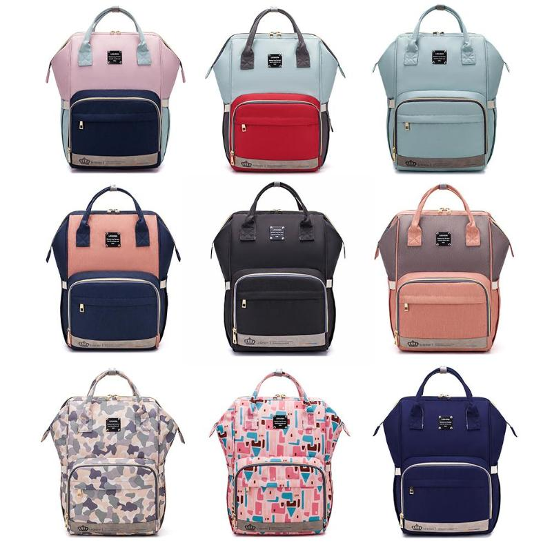 LEQUEEN Mummy Maternity Nappy Bag Fashion Portable Nursing Diaper Bag Large Capacity Waterproof Travel Backpack For Baby Care