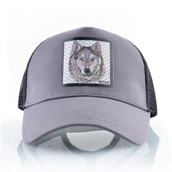 Fashion Baseball Cap With Wolf Patch Outdoor Breathable Mesh Visor Caps Men Snapback Hip Hop Baseball Hat For Women Visor Hats 2