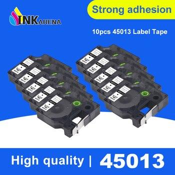 INKARENA 10 Pack 12mm Compatible Dymo D1 Label Printer Ribbon Tape 45013 for DYMO Label Maker LabelManager 160 280 260P Black