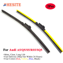 HESITE Colorful Windshield Wiper Blades For Audi A5 Q5 S5 RS5 SQ5 Model Accessories 2008 2009 2010 2011 2012 2013 2014 2015 2016