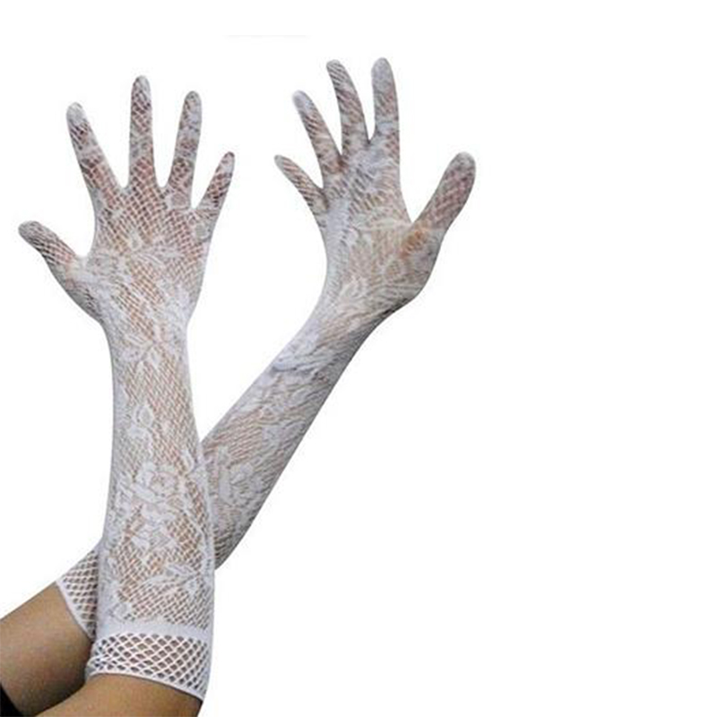 Women Sexy Stretch Lace Opera Elbow Long Length Evening Party Prom Gloves
