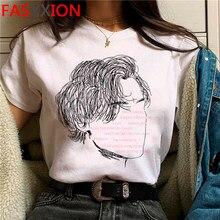 Harajuku harry estilos tratar pessoas com kidness t-shirts mulheres estéticas tshirt twk gráfico t camisa streetwear topo t feminino