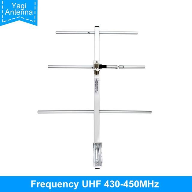 Antena Yagi UHF430 450MHz de alta ganancia 7DBd SO239, conector Yagi, antena Gamma apta para TYT MD398 Baofeng BF 888S UHF walkie talkie