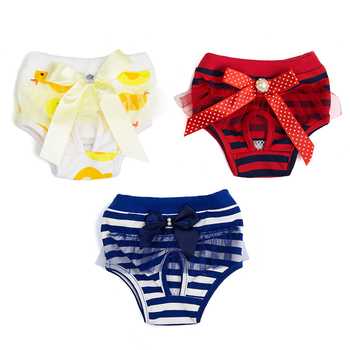 Sweet Pet Sanitary Physiological Pants Dog Diaper Washable Female Dog Shorts Panties Menstruation Underwear Pet Briefs image