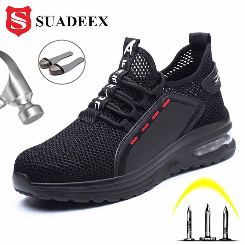 SUADEEX Work Shoes Breathable Steel Toe