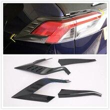Для Toyota RAV4 XA50, углеродное волокно, цветной задний светильник, накладка на задний светильник, декоративная панель, аксессуары для стайлинга автомобилей