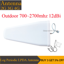 12dBi High Gain 700-2700mhz Outdoor LPDA Yagi Antenna for Cell Phone Signal Booster Repeater Amplifier 2G 3G 4G CDMA GSM DCS PCS 2g 3g 4g antenna high gain 8dbi 806 2700mhz omni fiberglass antenna for gsm cdma pcs 3g wlan 4g lte signal repeater booster