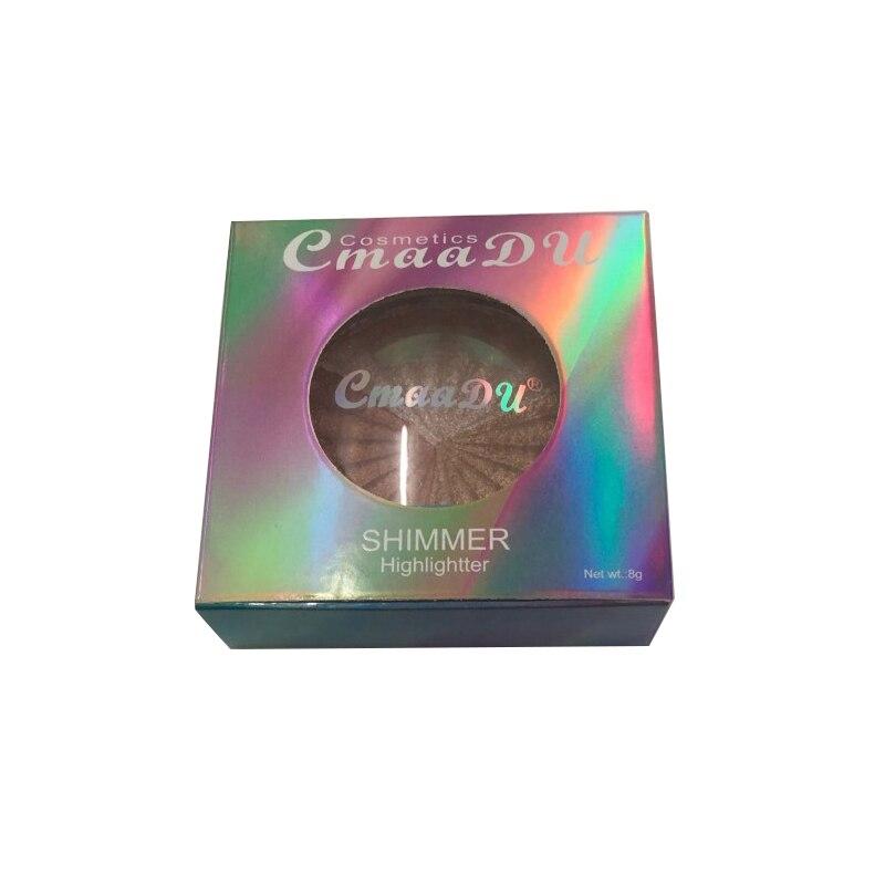 Highlighter Facial Palette Makeup Glow Kit Face Contour Shimmer Powder Base Illuminator Highlight Cosmetics Long Lasting TSLM1 4