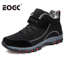 Waterproof Winter Men Boots with Fur Warm Snow Women Work Casual Shoes Sneakers High Top Rubber Ankle