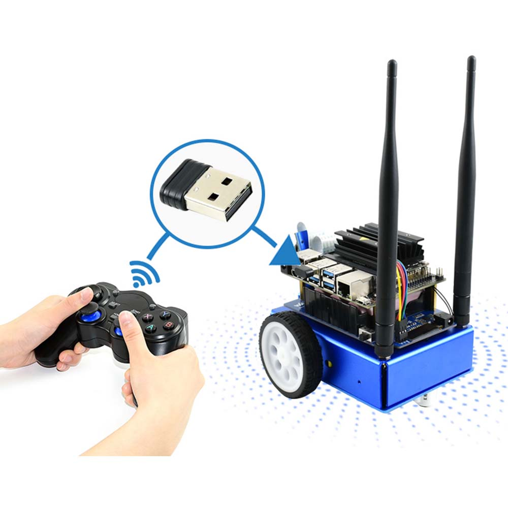 JetBot AI Kit, AI Robot Based On Jetson Nano,Facial Recognition, Object Tracking, Line Following And Obstacle Avoiding...