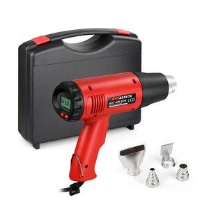 Image 5 - NEWACALOX chauffe eau thermique 2000W, 220V, prise ue, pour pistolets à Air chaud électriques industriels, régulateur à écran LCD, rétrécissement