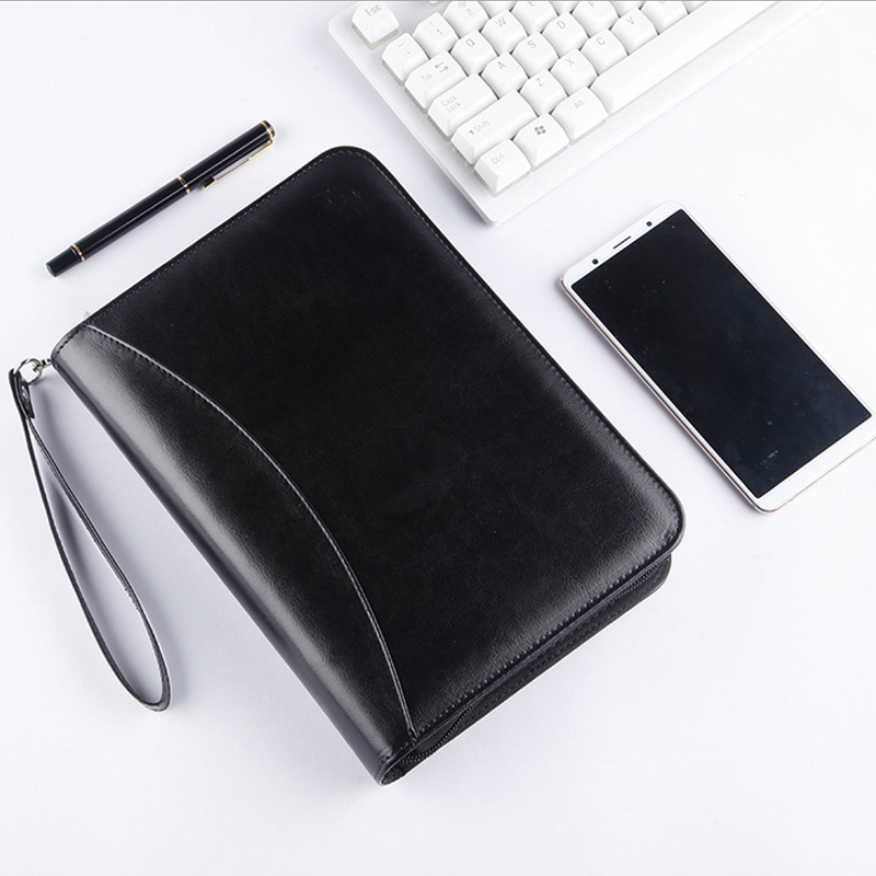 Multifunction Hand Bag Notebook Free Calculator Metal Binder Business Office Diary Notepad A5 Note Book Stationery Gift Journal