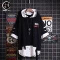 Ropa De Hombre 2021 Летняя мужская футболка в стиле хип-хоп, с капюшоном, с коротким рукавом, в японском стиле