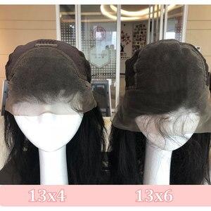 Image 4 - Омбре цвет волнистых волос 13x4 парик фронта шнурка натуральный черный бразильский Реми человеческие волосы комплект с 4x4 кружева Закрытие парики для женщин