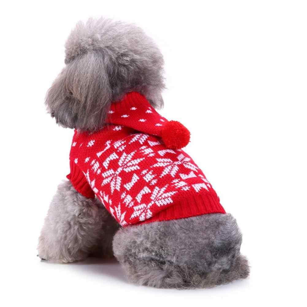 TPFOCUS свитеры для домашних животных повседневные Рождественские толстовки с принтом снежинки костюм с высоким воротником Одежда для зимы и осени собака мелких пород