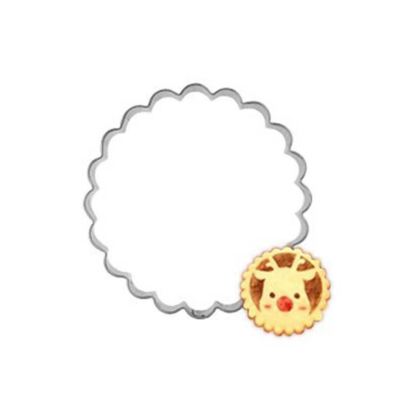 Onda Círculo Anel De Metal Bakeware Rodada Pétala Ovo Biscuit Cookie Cutter Stamp Mold Baking Fondant Ferramentas Utensílio de Aço Inoxidável