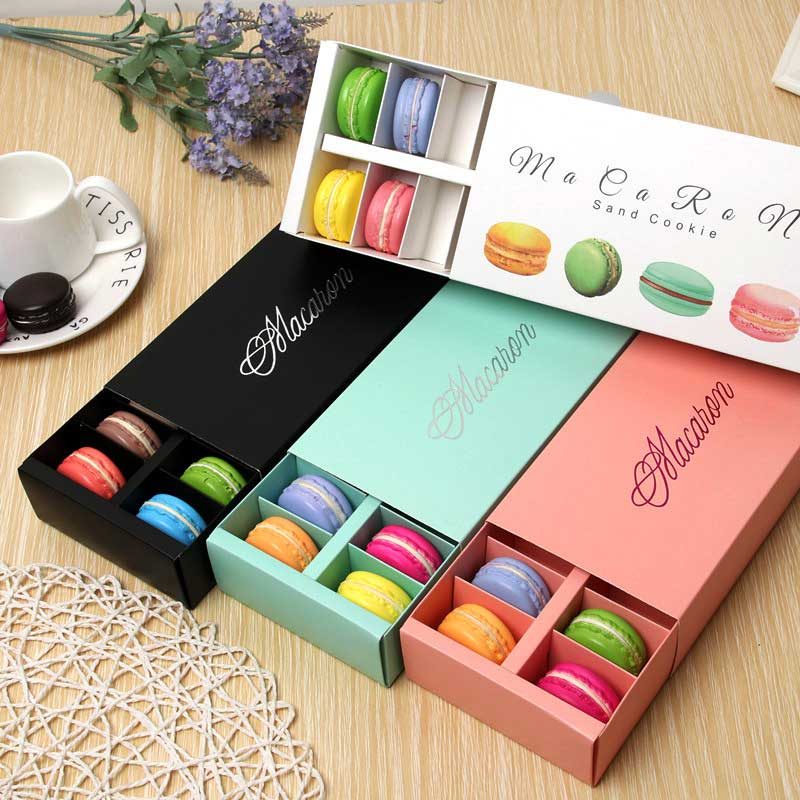 12macarons Party Supplies Chocolate Macaron <font><b>Packaging</b></font> <font><b>Box</b></font> Rectangle <font><b>Gift</b></font> <font><b>Box</b></font> Baking Decoration <font><b>Big</b></font> Capacity Small Pastry image