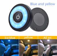 Accesorios de coche, ornamento Interior de coche, luz nocturna táctil, lámpara de imán para techo de coche, luz de lectura Interior de coche