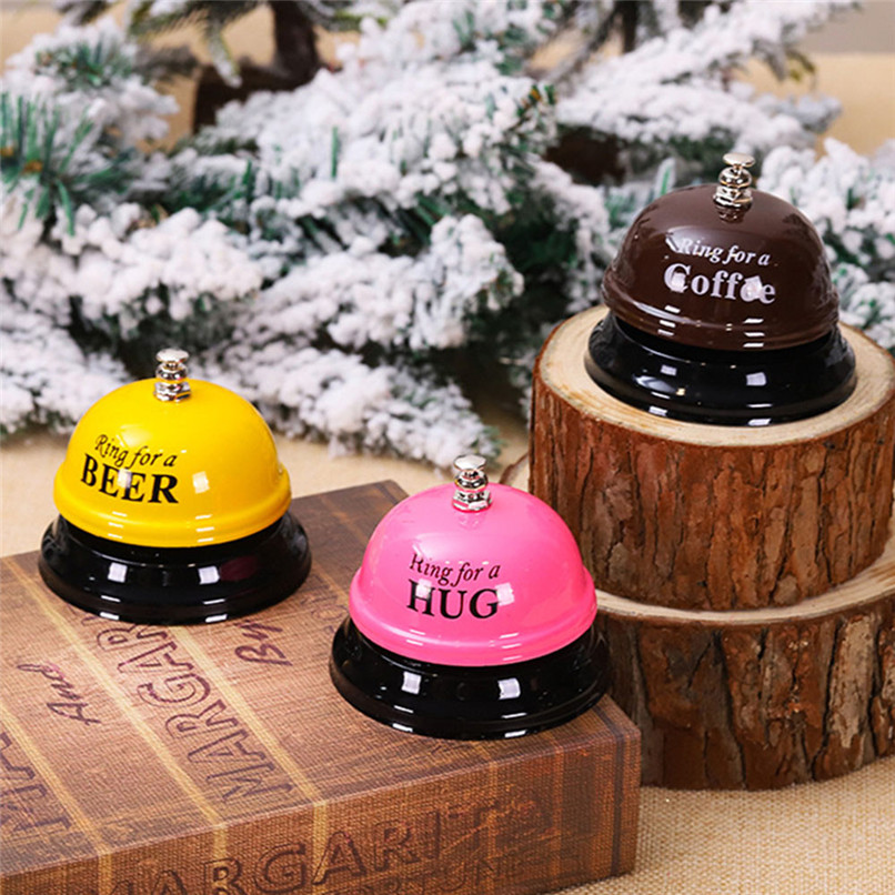 Fashion Christmas Hotel Counter Service Desk Bell Ring Puzzle Exercise Simulation Scene Toy Funny Game Tools #30N13