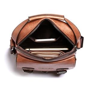 "Image 4 - Business Men Shoulder Bag PU Leather Male Messenger Bags Retro Men Crossbody Bag for 10.5"" Ipad Travel Zipper Male Handbags"