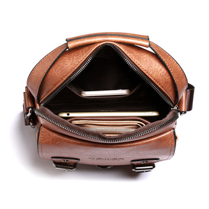 """Image 4 - Iş erkek omuz çantası PU deri erkek postacı çantası Retro erkekler Crossbody çanta 10.5 """"Ipad seyahat fermuar erkek çanta"""