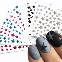 Autocollants 3D à paillettes pour ongles, décalcomanies, autocollants adhésifs colorés pour manucure, Nail Art bricolage pièce, JINC132