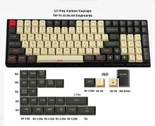 125 clés PBT Keycaps OEM profil Dolch carbone pour Cherry MX commutateurs 61 63 84 87 96 104 Tada68 FC980M clavier mécanique