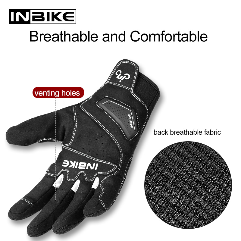INBIKE Hard Shell Protection Motorcycle Gloves Men Shockproof Thicken TPR Palm Pad Motorbike Gloves for Riding Motocross Gloves