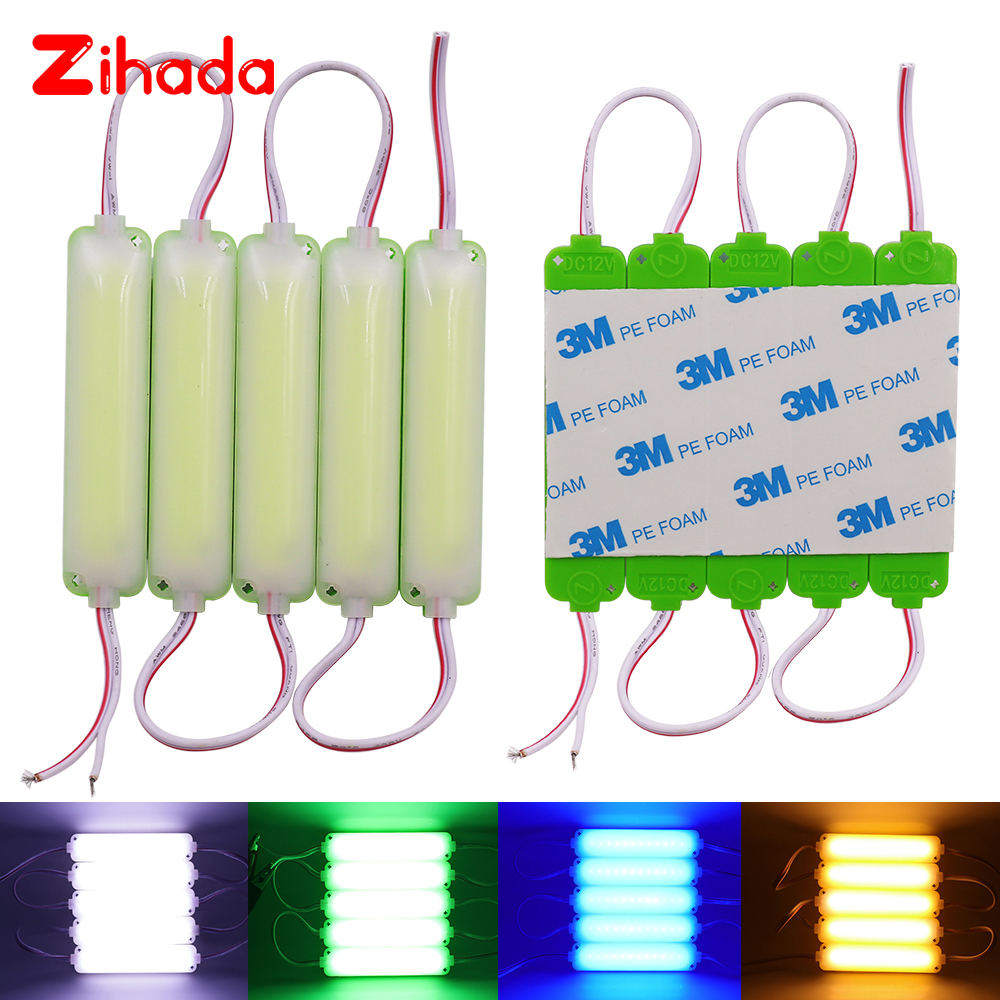 20Pcs/Lot LED Module String COB 2W Waterproof DC12V for Outdoor Advertising Luminous Signs Lightbox DIY LED Module Strip