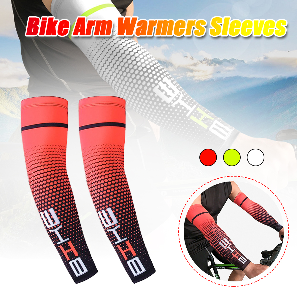 1Pair Cool Men Sun Protection Cuff Cover Cycling Fishing Drive Running UV  Protective Arm Sleeve Bike Sport Arm Warmers Sleeves