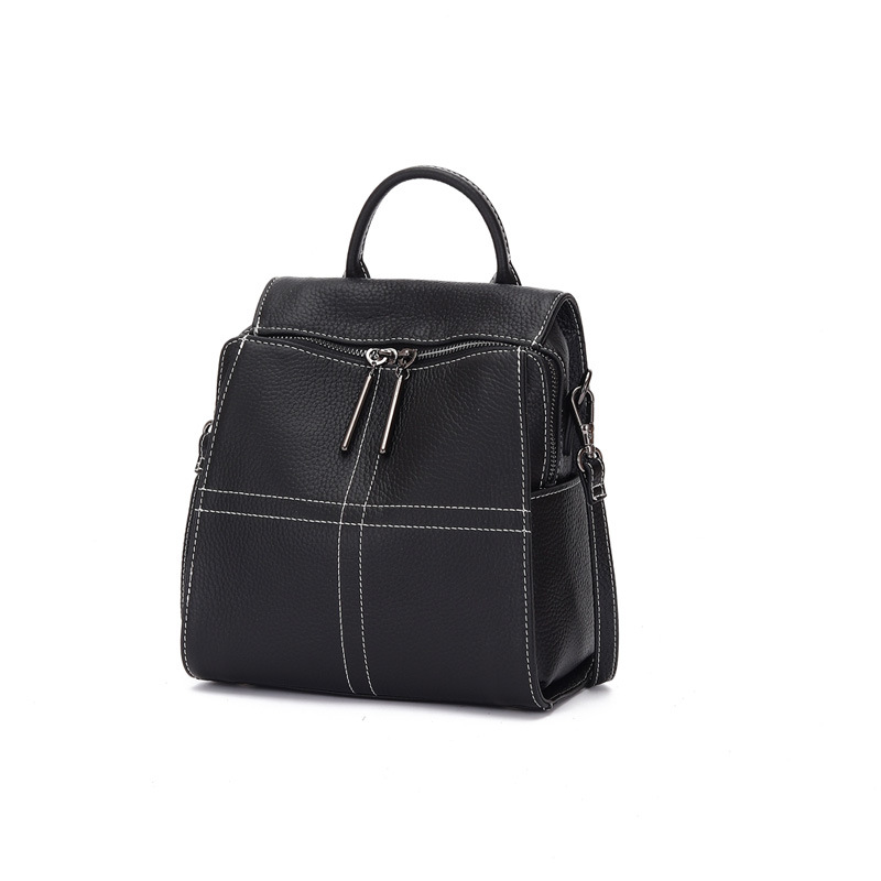 Women Backpack Travel-Bags School-Bag Anti-Thief Teenager Large-Capacity Girls Genuine-Leather