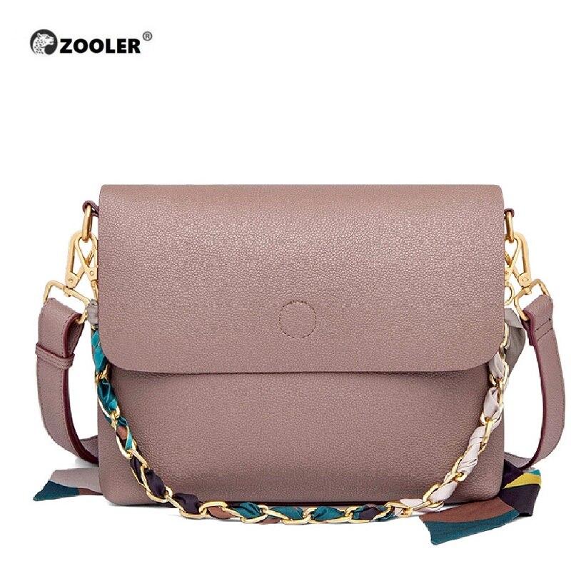 ZOOLER Cow Women Bag Female Shoulder Bag Handbag Women Famous Brands Genuine Leather Bag Ladies Crossbody Messenger Bags Ribbons
