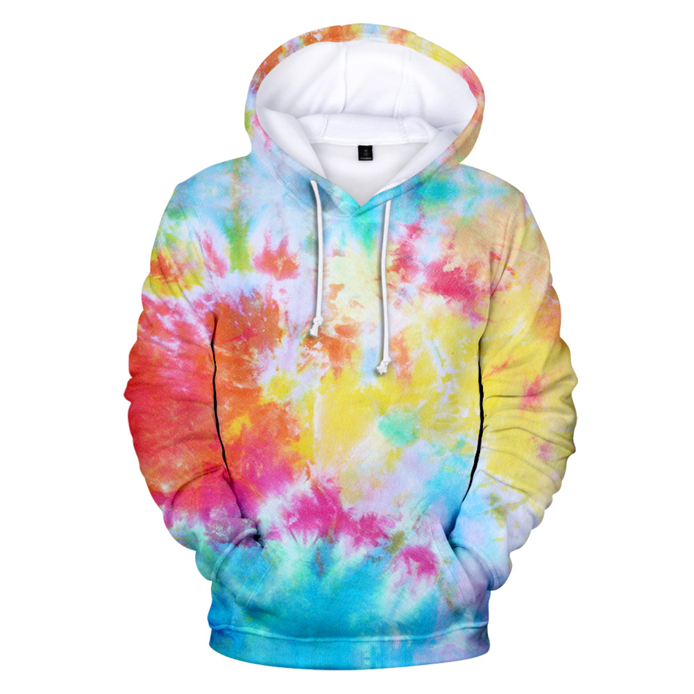 New 3D Tie Dye Hoodie Men / Women Spring Clothes Oversize Sweatshirt Men's Clothing Harajuku Pullover Hoody Print Casual Hooded 1