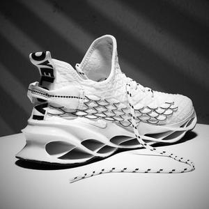Image 5 - 2020 yeni açık erkekler ücretsiz erkekler için çalışan koşu yürüyüş spor ayakkabı yüksek kaliteli dantel up Athietic nefes bıçak Sneakers