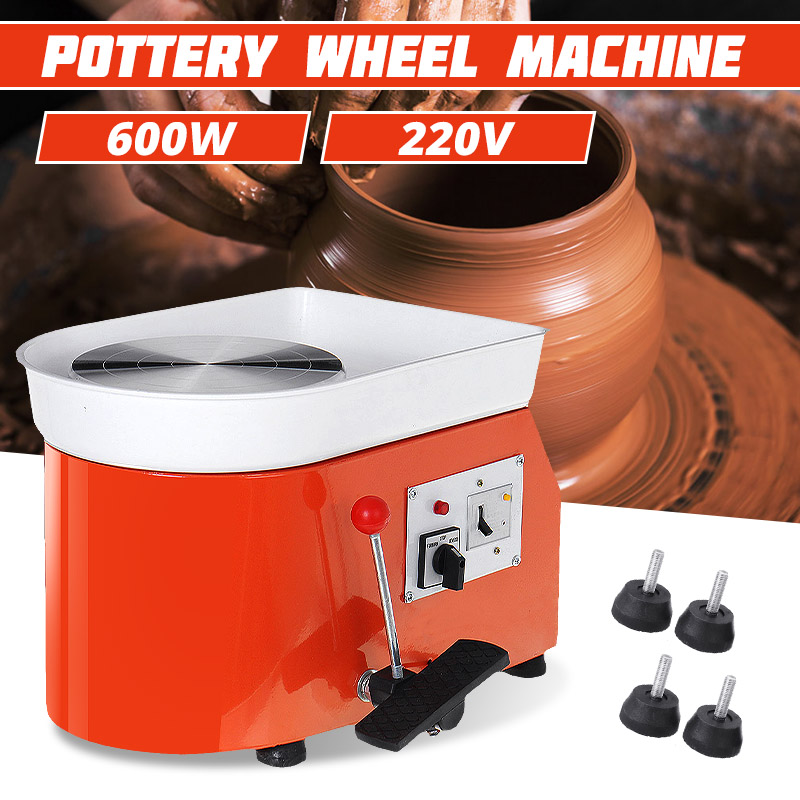 220V 600W Turning Electric Pottery Wheel Machine AU DIY Clay MIni Pottery Tool Kit For Ceramic Work 25CM Dia.