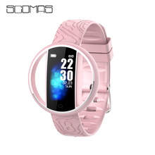 SCOMAS E99 Smart watch men Bracelet real-time monitor heart rate & sleeping best Couple Fitness Tracker pink fit women