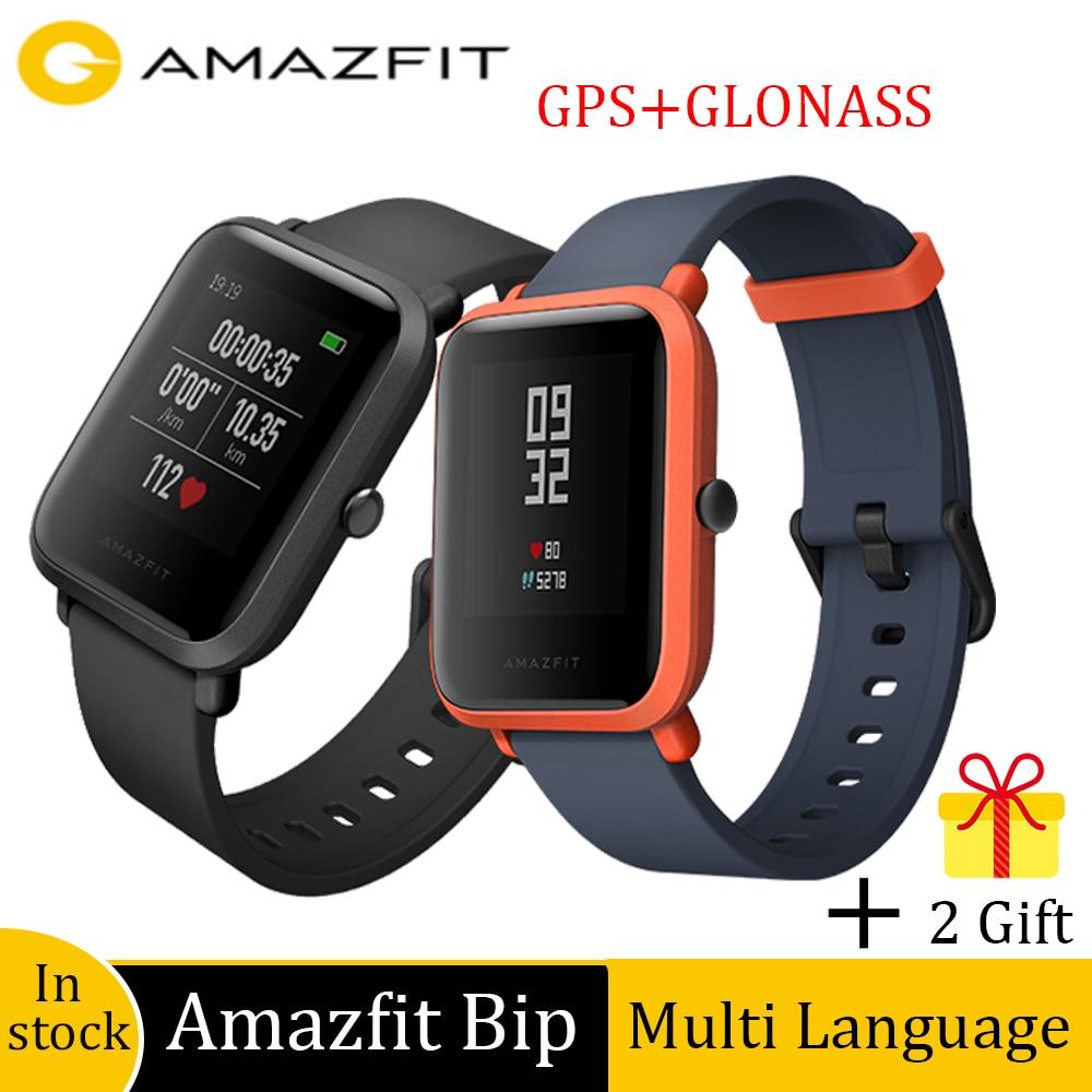 Amazfit Bip لتحديد المواقع ساعة ذكية 45 يوما عمر البطارية IP68 مقاوم للماء ساعة رياضية معدل ضربات القلب ومراقبة النوم دعوة تذكير