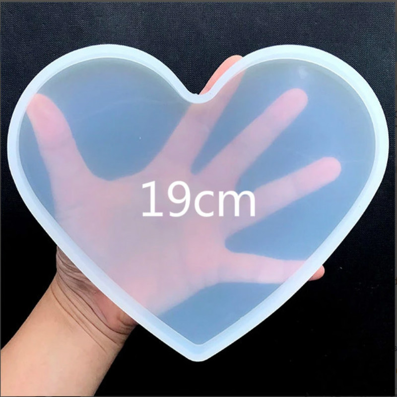 Large Heart Coaster Silicone Mold Epoxy Resin Craft Supplies Make Your Own Coaster Fluid Artst Flower Epoxy Silicone Mold Resin