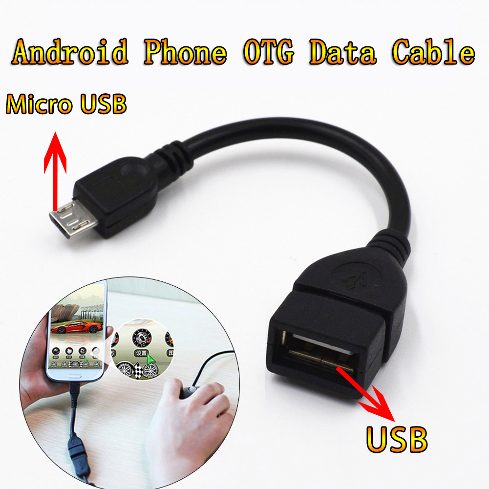 Micro USB OTG Cable Data Transfer Micro USB Male To Female Adapter For Samsung HTC Android