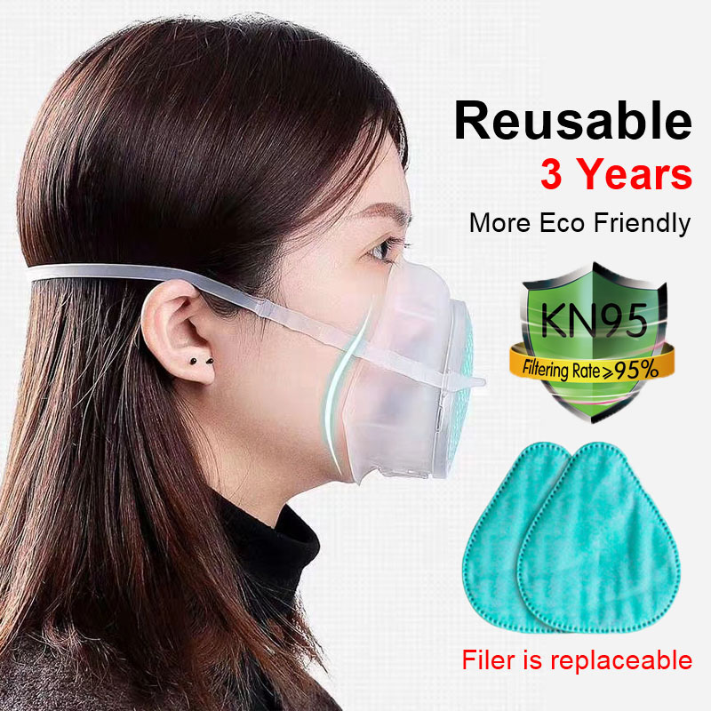N95 Respirator Mask Washable Mask Ffp3 Reusable Kids Masks Pm2.5 Filter Particulate Mouth Mask Protective Mask Anti Dust Mask