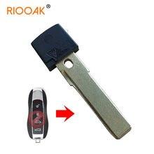 Chave de emergência lâmina de substituição pequena chave cabeça para porsche cayenne panamera remoto carro chave pequena lâmina substituição