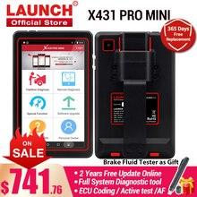 เปิดตัว X431 PRO MINI Diagnostic เครื่องสแกนเนอร์รถยนต์ Full ระบบเครื่องมือสแกนบลูทูธ Wifi OBD OBD2รหัส Reader สำหรับรถยนต์ PK x431 V