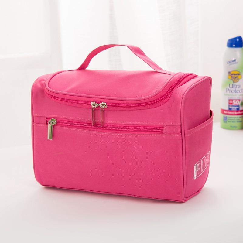 Puimentiua 2019 Waterproof Cosmetic Bag Ladies Fashion Small Square Bag Travel Storage Bag Large Essential Wash Bag