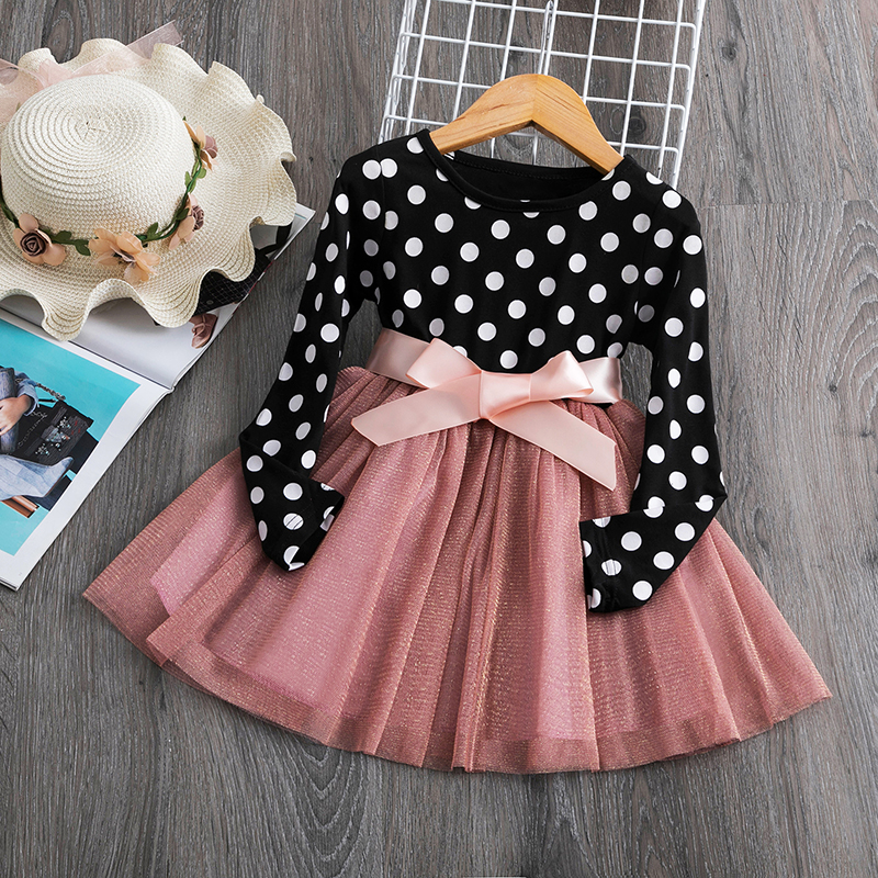 Baby Kids Autumn Winter Dresses For Girls Party Frock Lace Hollow Princess Children School Wear Kids Clothes Girl  Clothing 6T 3