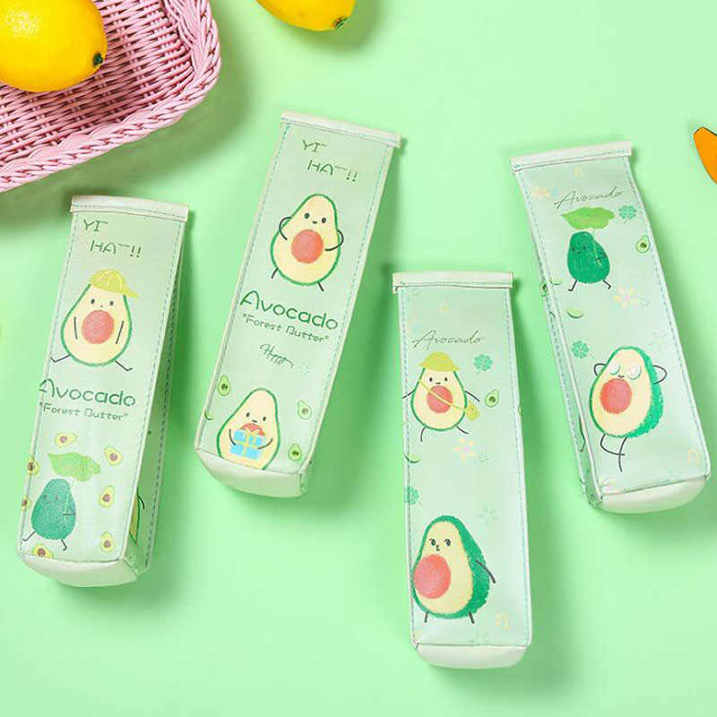 Pencil Bag Cute Milk Carton School Pencil Case For Kids Gift Cute Avocado Pen Bag Box Stationery Pouch Organizer Office Supplies