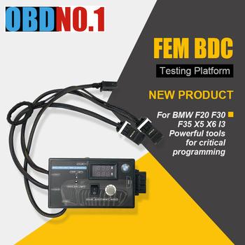 Nowy typ platforma testowa dla BMW FEM amp BDC wysokiej jakości BMW FEM Tester platformy F20 F30 F35 X5 X6 I3 tanie i dobre opinie ZOLIZDA FEM BDC Module latest 8inch 15inch plastic and metal Kable diagnostyczne samochodu i złącza 10inch can not update