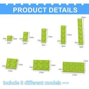 Image 4 - 1000pcs di Costruzione Arcobaleno Blocchi di Colore Piatto 8 Modello di Kit di Gioco Figure Pezzi Compatibile MOC di Mattoni Giocattoli per I Bambini di Costruzione gioco