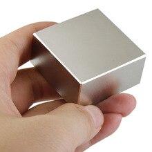 2 шт Блок 40x40x20 мм супер мощный сильный редкоземельный блок NdFeB магнит Неодимовый N52 магниты