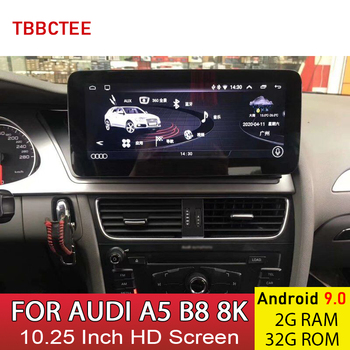 Android 9.0 2+32G Car Multimedia Player For AUDI A5 B8 8K 2008~2016 MMI 2G 3G GPS Navigation Auto Radio HD Touch Screen image